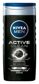 Active Clean Shower Gel (250ml) - Nivea Men
