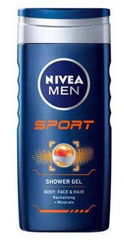 Sport 24H Fresh Effect Shower Gel (250ml) - Nivea Men