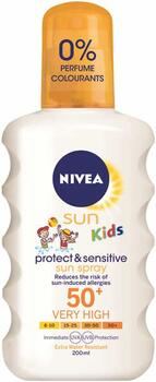 Protect And Sensitive Kids Sun Spray Faktor 50 (200ml) - Nivea