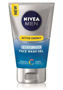 Active Energy Fresh Look Face Wash Gel (100ml) - Nivea Men