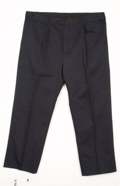 Store størrelser lærredsbukser i navy blå eller lys sand til mænd