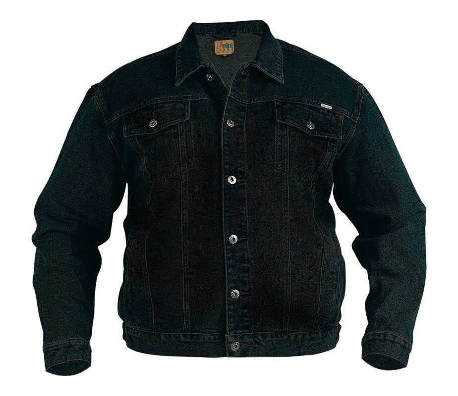 b3211332747 Duke London Denim Jakke (Sort) - Stor cowboy jakke