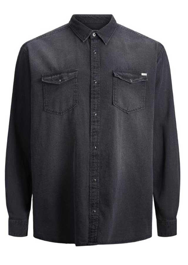 2f9d4e7a Klassisk sort langærmet skjorte - Jack & Jones