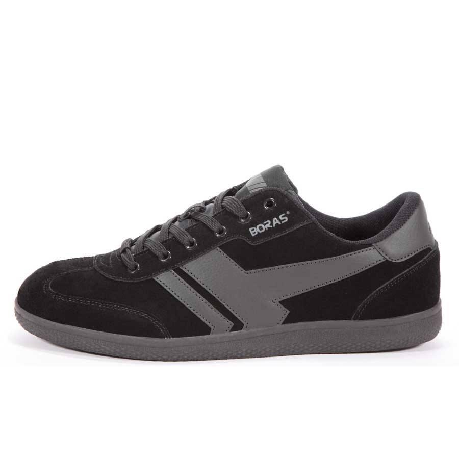 0601f8df Sorte retro sneakers i ruskind m. grafitgrå detaljer - Boras (3541 1438)