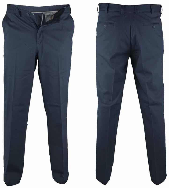 Navyblå bomuldsbukser med stretch og Xtenda waist D555