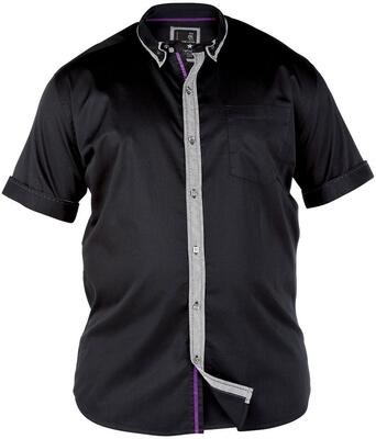 Sort Split Star skjorte (Double Button Down)