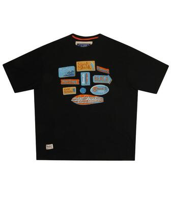 "Sort ""Surfers Paradise"" T-shirt m. print"
