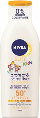 Protect And Sensitive Kids Sun Lotion Faktor 50 (200ml) - Nivea
