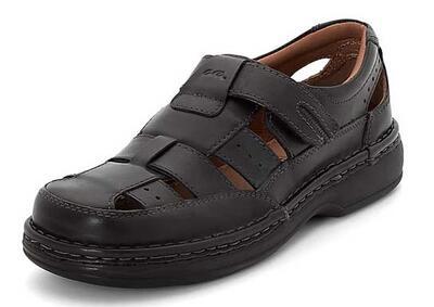 Lukket sandal med ekstra vidde og velcrorem - Ara