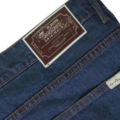 "Ed Baxter denim blå jeans m. stretch (34"")"
