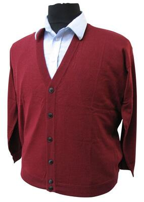 Elkjær strik: Cardigan m. knapper (Bordeaux)