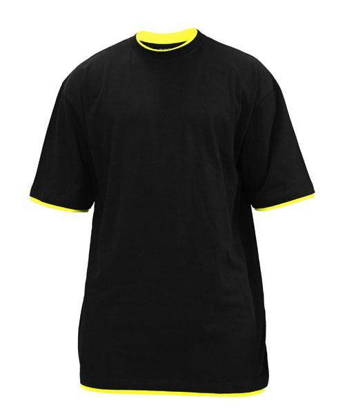 Lang T shirt m. kontrast