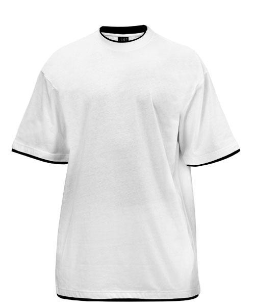 Ekstra lang T-shirt med kontrast farve til høje mænd 03bd7b2d97