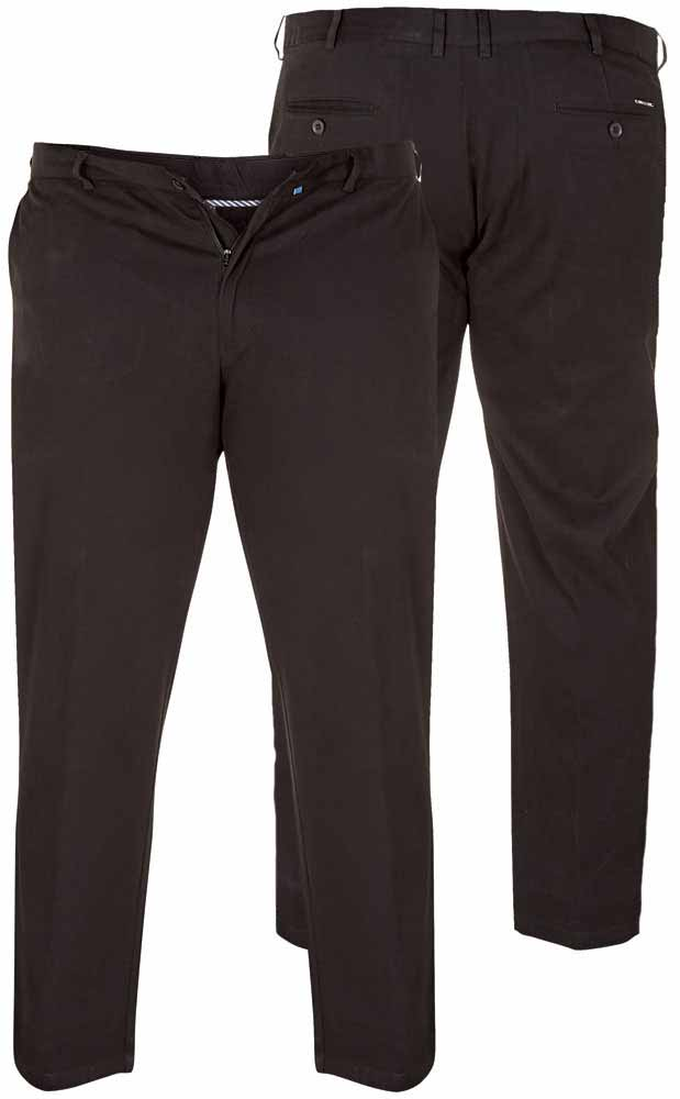 Bomuldsbukser m. stretch og Xtenda waist (Sort) (32