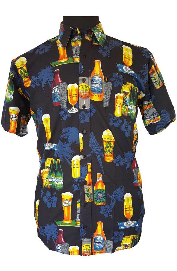 c5e6d8390b3 Køb Kamro Hawaii skjorte m. print (Sort) - God pris: 549,00 DKK,-