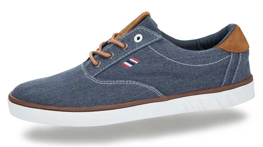 819c80916404 Sneakers til mænd med gummisåler - Grå lærredssko til herrer
