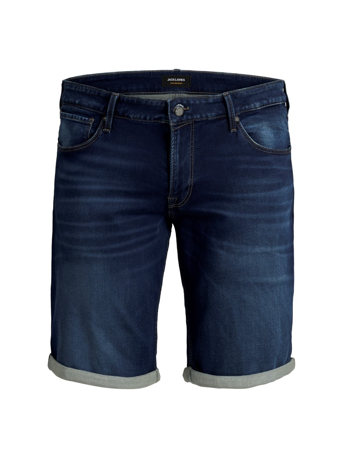 edf808d23 Mørkeblå denim shorts (Indigo Knit) - Jack & Jones